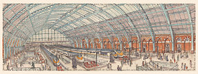 London & Lords. Mar 15: Inside St Pancras Station tiny
